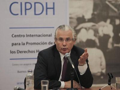 Garzón, este lunes en Buenos Aires. EFE/ David Fernández